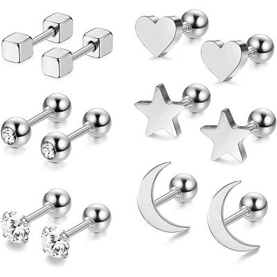 RUICHUANGS Pendientes Mujer Plata
